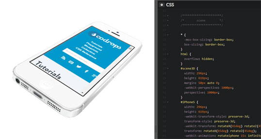 Démo technique d'un iPhone 5 en CSS 3D